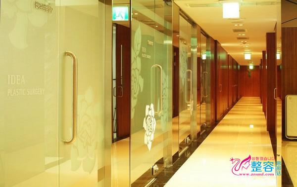 韩国艺德雅整形医院走廊